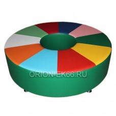 Диван круглый «Калейдоскоп» на опоре
