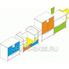 Стенка  Паровозик ДС-3