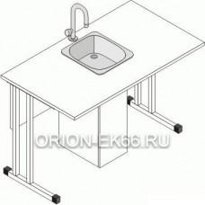 Стол ученический с керамической раковиной для кабинета химии/физики Лц.СКНХ
